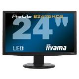 Iiyama ProLite B2475HDS 23.6 inch LED Backlit LCD Monitor 1000:1 300cd/m2 1920x1080 2ms D-Sub/DVI-D/